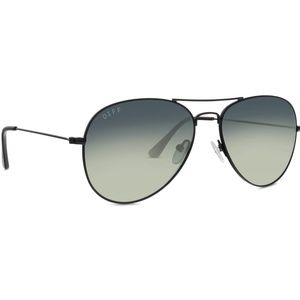 Diff cruz aviator black grey gray metal sunglasses
